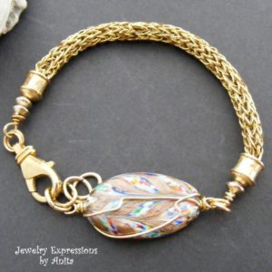 Gold wire by ParaWire used to create this viking weave