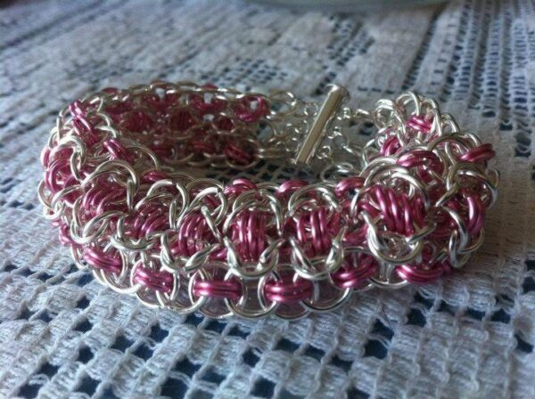 silver wire chain maille