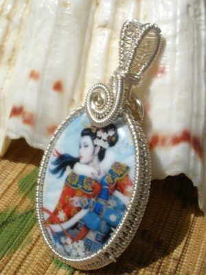 silver wire wrapped enamel