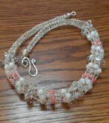 silver wire viking knit choker