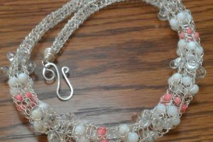 silver wire viking knit choker