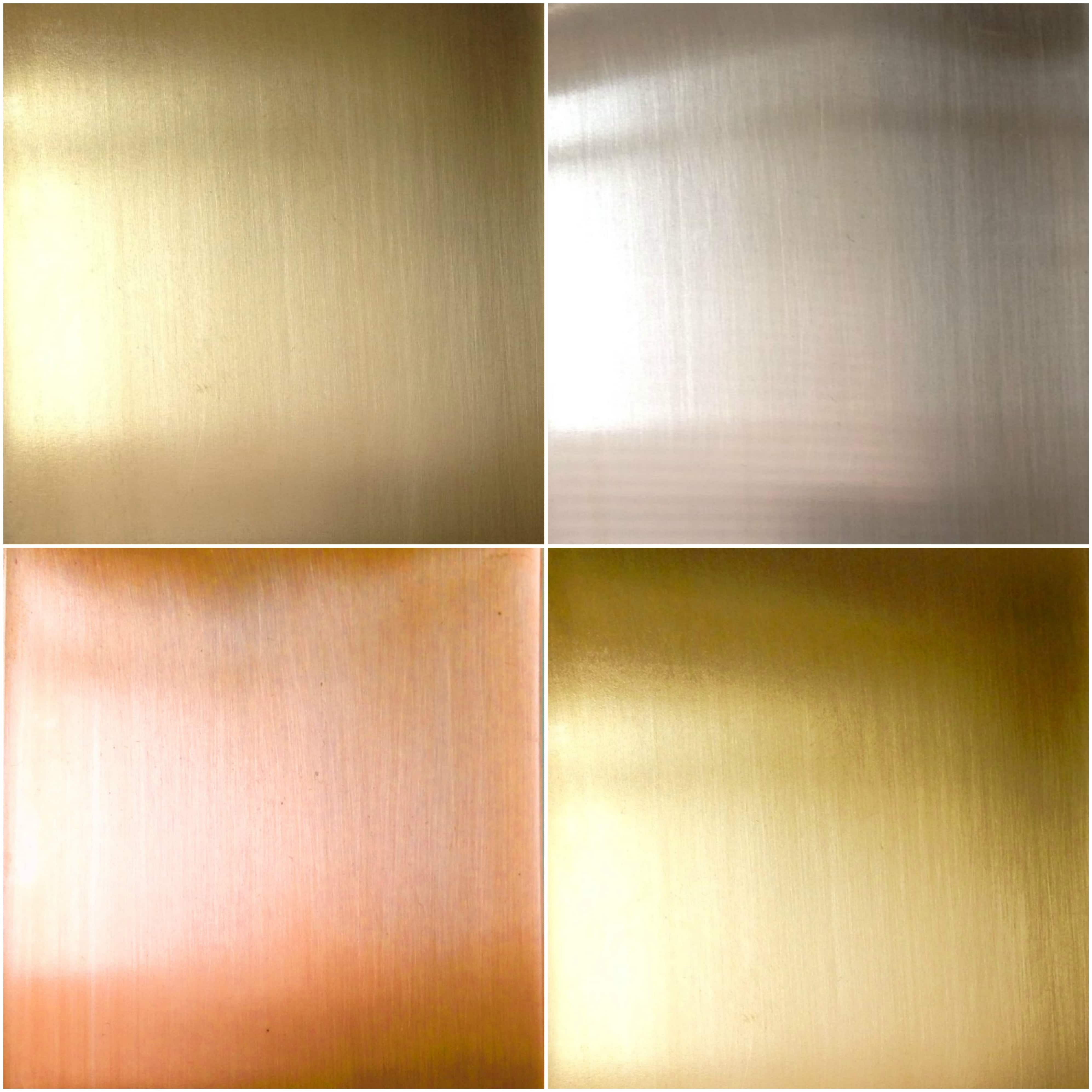 Metal sheets in copper brass gold brass and german for Metal sheets for crafting