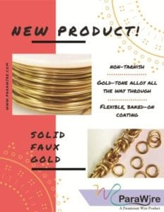 ParaWire Solid Faux Gold