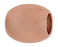 textured copper bead