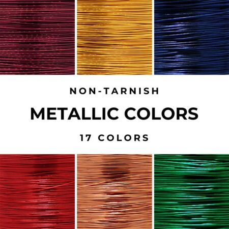 metallic color craft wire